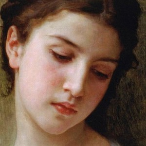 William Bouguereau Head Study of a Young Girl