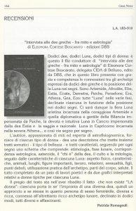 linguaggio astrale trimestrale di cultura astroogica del C.I.D.A. Estate 2016 recensione Dee numero 183