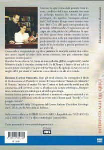 quarta di copertina INTERVISTA AGLI DEI GRECI